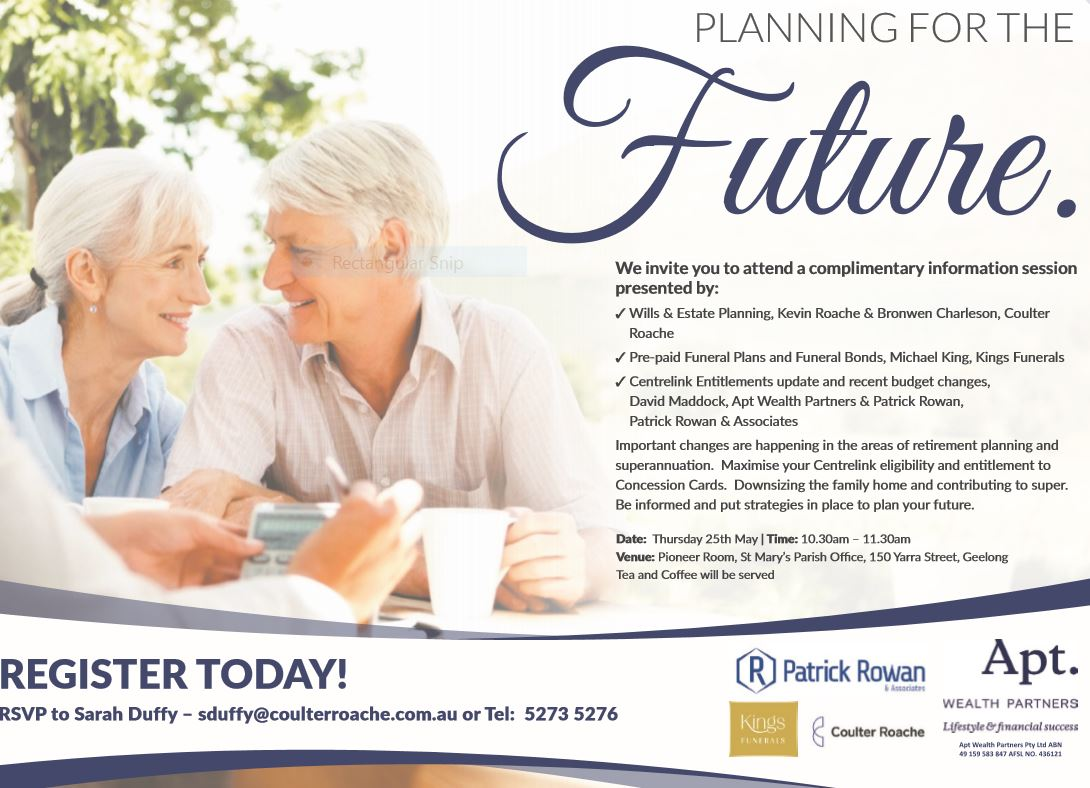 superannuation and retirement planning session